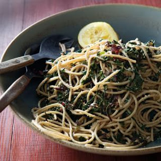 Spaghetti with Garlicky Greens