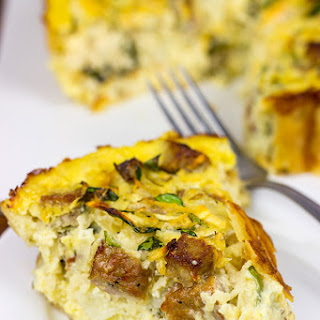 Sausage and Green Apple Quiche