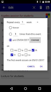 Calendar Pro/en - full version- صورة مصغَّرة للقطة شاشة