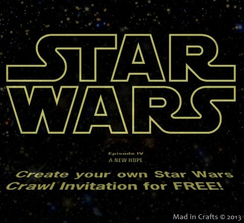 Photo: Free Star Wars Crawl Video Invite:  http://www.madincrafts.com/2013/01/star-wars-crawl-video-birthday.html  #starwarstuesday