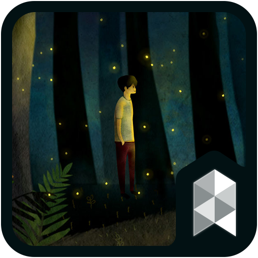 Emotion Firefly Healing Forest Live Launcher theme