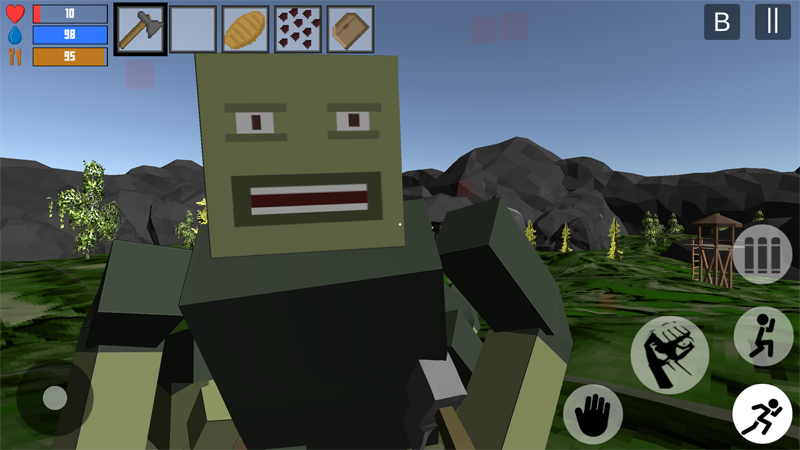 Screenshots of survival hunting craft action for iPhone
