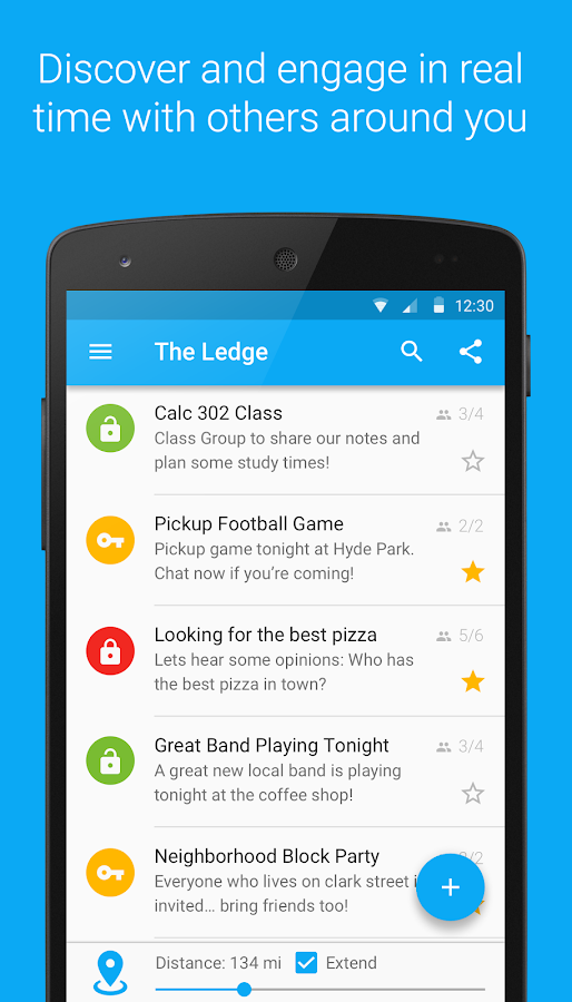 LocalLedge Community Messaging- screenshot
