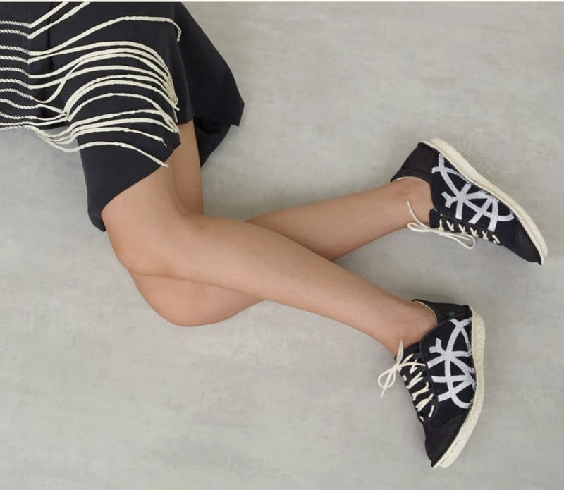 Po-Zu black & white fashion sneakers