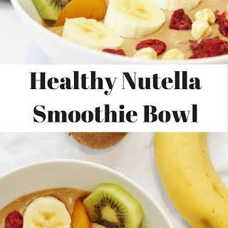 Nutella Banana and Avocado Smoothie Bowl.