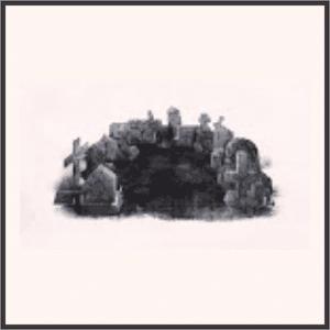 寒夜の墓地