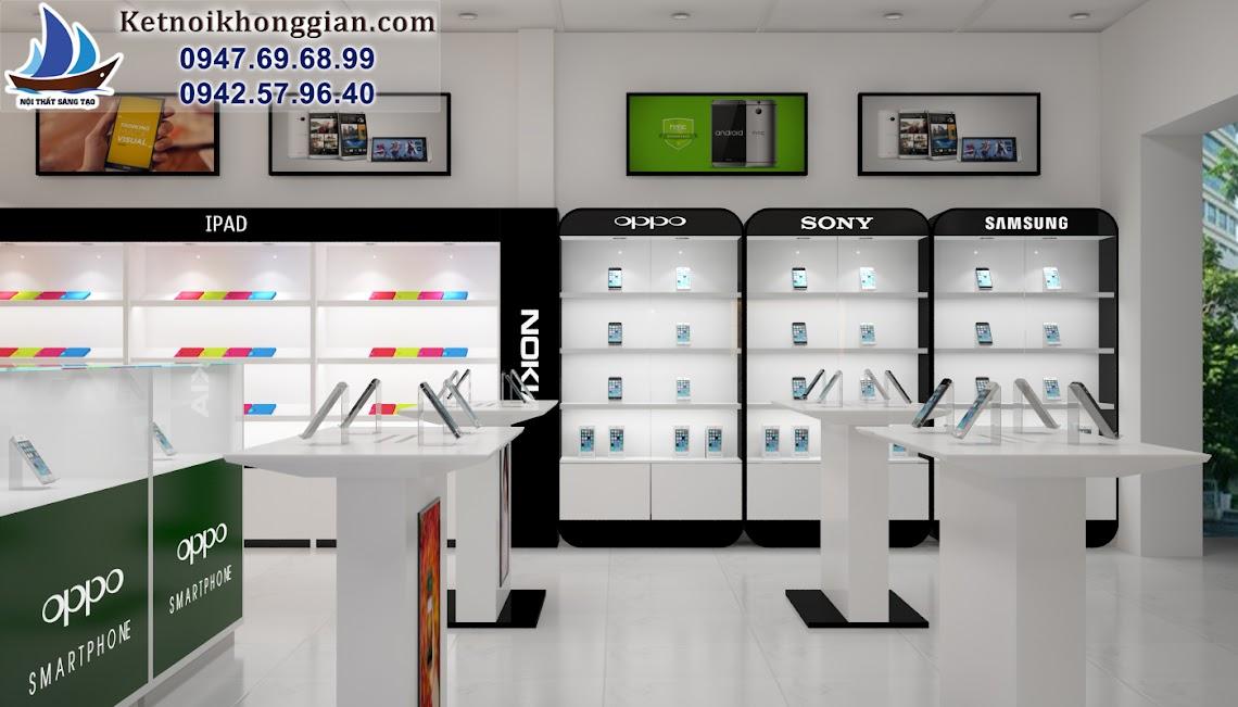 thiết kế cửa hàng điện thoại di đông chuẩn mực