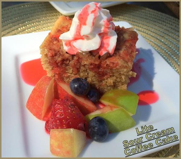 Lite Sour Cream Coffee Cake Recipe