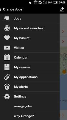 Orange Jobs - screenshot