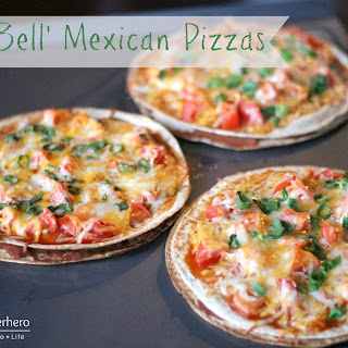 'Taco Bell' Mexican Pizzas.