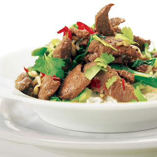 Lamb Stir-fry with Ginger and Coriander