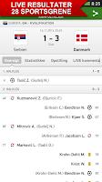Screenshot of Resultat - sportsresultater
