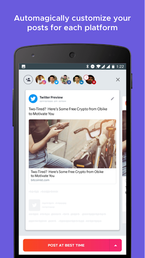 Crowdfire: Social Media Manager 4.12.4 screenshots 2