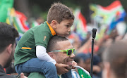 Bryan Habana in the streets of Cape Town showing appreciation for the Springboks during their victory parade on November 11, 2019.