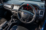 The interior of the Ford Ranger Raptor.