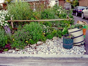 Photo: It's a good idea to build an area to pile garbage. This river rock works well.