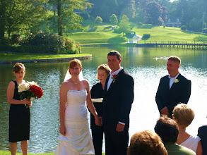 Photo: Ceremony in progress - Highlands Country Club - Highlands, NC  ~ http://WeddingWoman.net ~