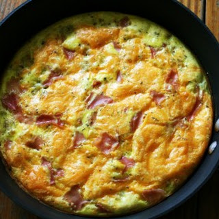 Potato Ham and Cheddar Fritatta