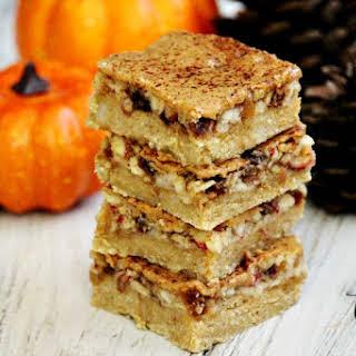 Gluten-Free Vegan Flourless No-Bake Peanut Butter Apple Bars.