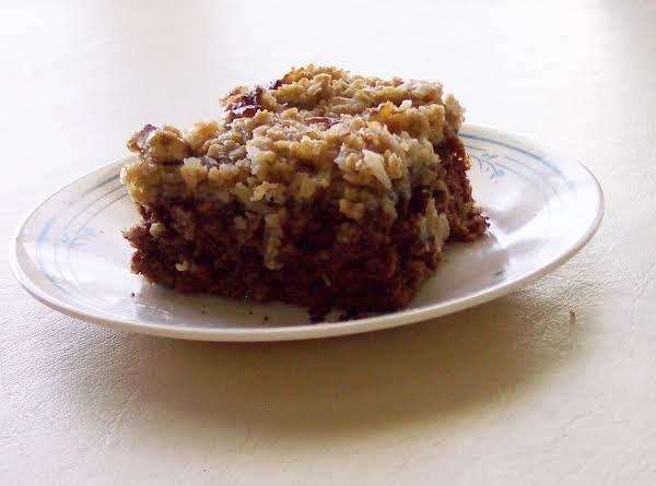 Oatmeal Cake  Taste Like German Chocolate Recipe