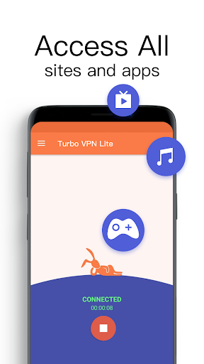 Turbo VPN Lite- Free VPN Proxy Server & Fast VPN 0.1.5 screenshots 4