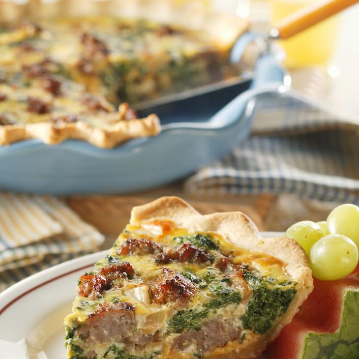 Sausage-Spinach Quiche