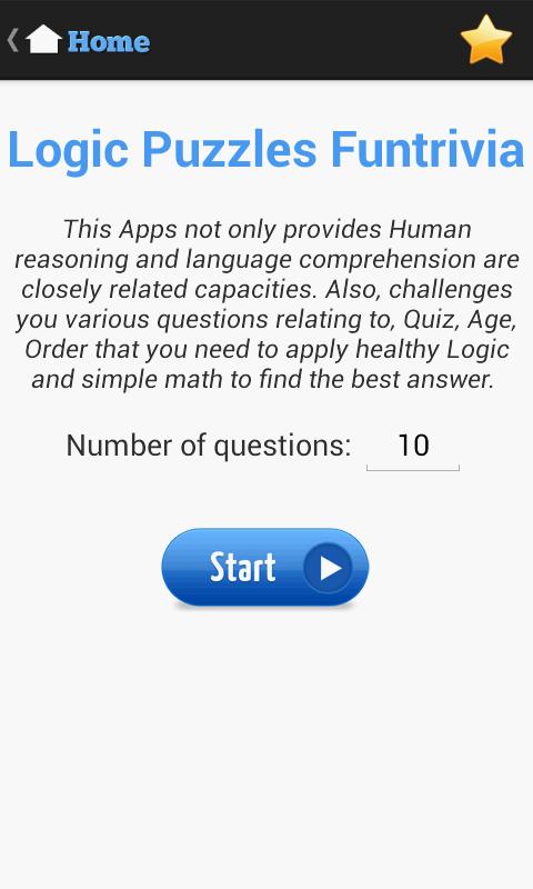 Скриншот Logic Puzzles Funtrivia
