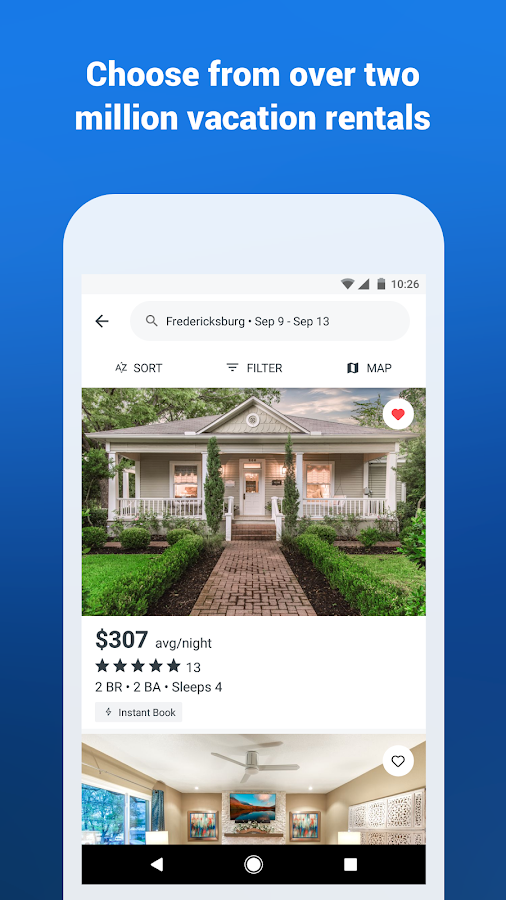 HomeAway Vacation Rentals- screenshot