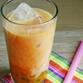Coconut-Mango Bubble Tea with Homemade Boba Pearls