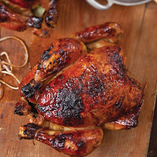 Apple Cider-Glazed Roasted Chickens
