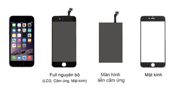 Tìm hiểu cấu tạo màn hình iphone 6