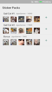 Sad Cat Stickers - WAStickerApps Screenshot