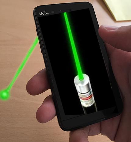 Laser puntero laser simulador