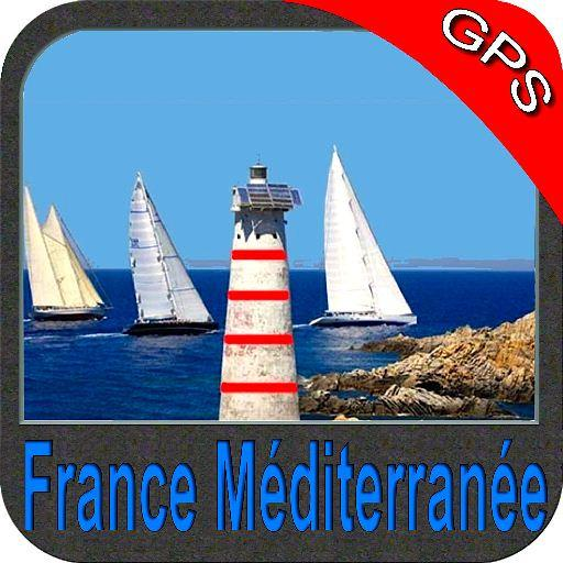 France méd gps carte nautique