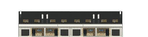 Mazurek II z garażem 1-st. szeregówka A-SZ - Elewacja przednia