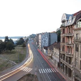 Fast lights  by Anto Boyadjian - City,  Street & Park  Street Scenes ( car, street )