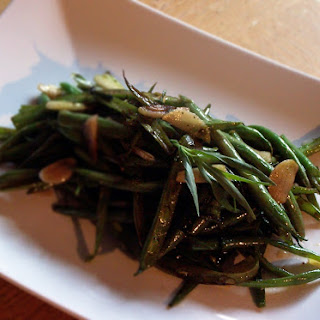 French Cut Green Beans with Tarragon Garlic and Balsamic Vinegar.