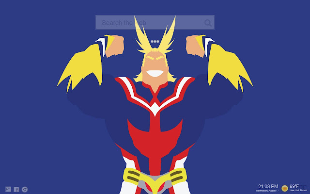 All Might Themes Tab
