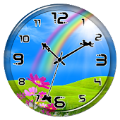 Rainbow Clock Live Wallpaper