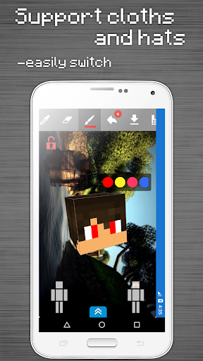 Skins Editor for Minecraft PE (3D) 2.9.2.2 screenshots 7