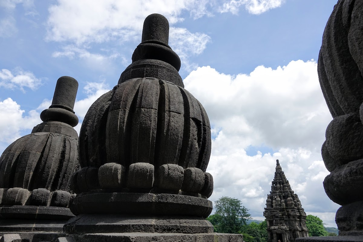Indonesia. Yogyarkarta Pramantan Temple. Stupa close up