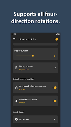 Rotation Lock Pro screenshot 3