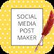 Social Media Post Maker, Planner & Graphic Design image