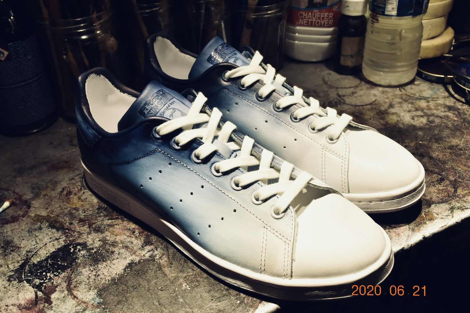 Stan Smith patine bleu Shibori 1