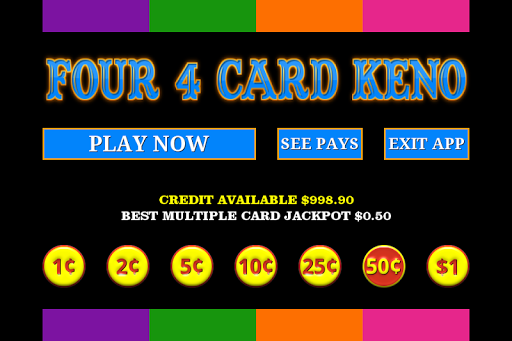 Four 4 Card Keno - FREE 1.3.5 screenshots 3