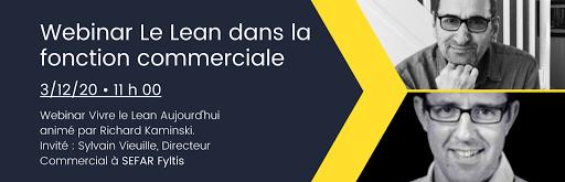 Wzbinar Le Lean dans la fonction commerciale le 3/12/20 avec Sylvain Vieuille directeur commercial à SEFAR FYLTIS