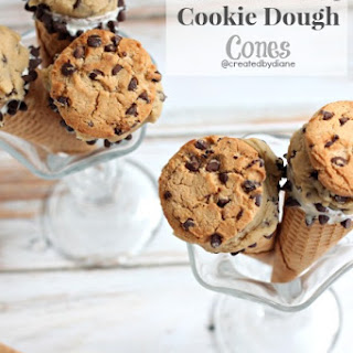 Chocolate Chip Cookie Dough Cones.