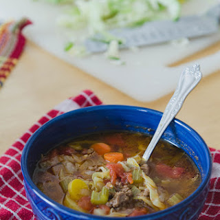 Rustic Beef, Tomato & Cabbage Stew.