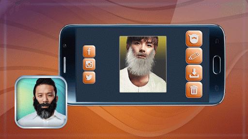 鬍鬚和八字胡 合成照片