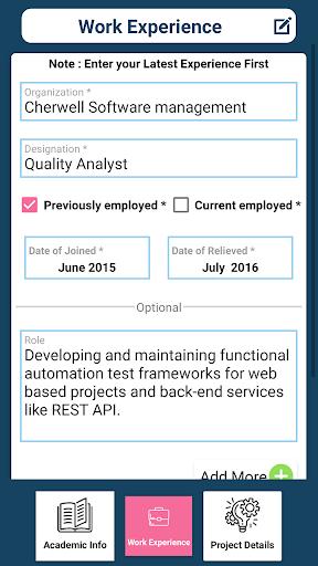 Download Cv Maker Resume Builder App Free Curriculum Vitae Free